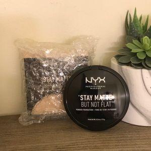 3$20 Stay matte but not flat NYX powder